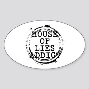 House of Lies Addict Stamp Oval Sticker