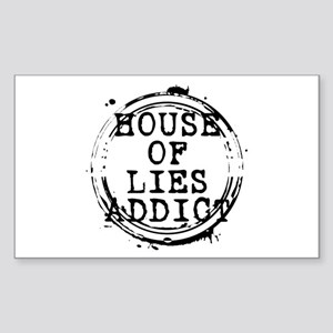 House of Lies Addict Stamp Rectangle Sticker