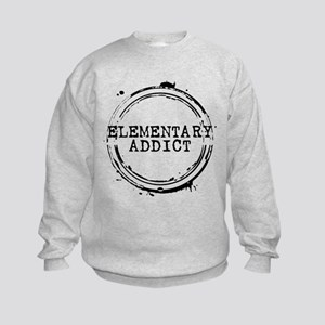 Elementary Addict Stamp Kids Sweatshirt