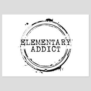Elementary Addict Stamp 5x7 Flat Cards