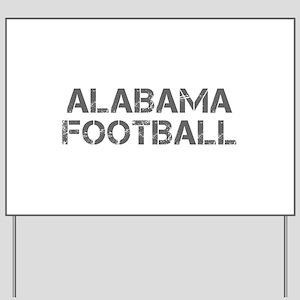 ALABAMA football-cap gray Yard Sign