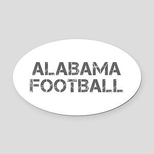 ALABAMA football-cap gray Oval Car Magnet
