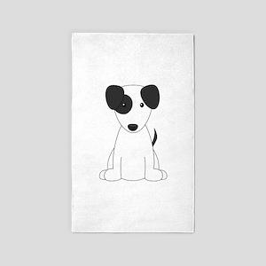 Cartoon Jack Russell Terrier 3'x5' Area Rug