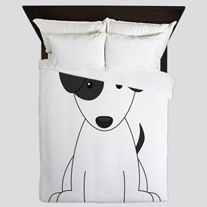 Cartoon Jack Russell Terrier Queen Duvet
