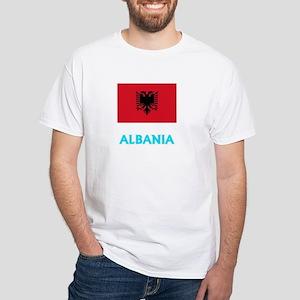 Albania Flag Classic Blue Design T-Shirt