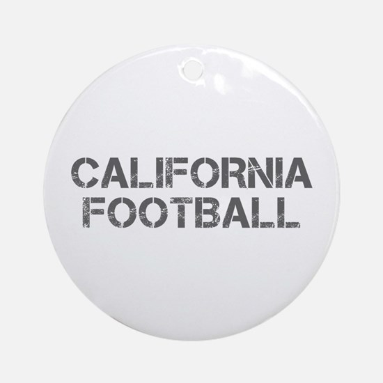 CALIFORNIA football-cap gray Ornament (Round)