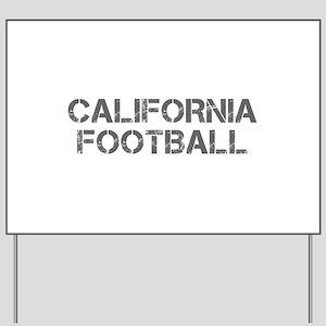 CALIFORNIA football-cap gray Yard Sign