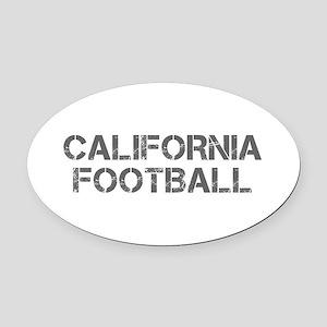 CALIFORNIA football-cap gray Oval Car Magnet