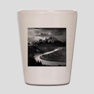 Ansel Adams The Tetons and the Snake Ri Shot Glass