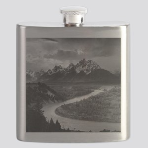 Ansel Adams The Tetons and the Snake River Flask