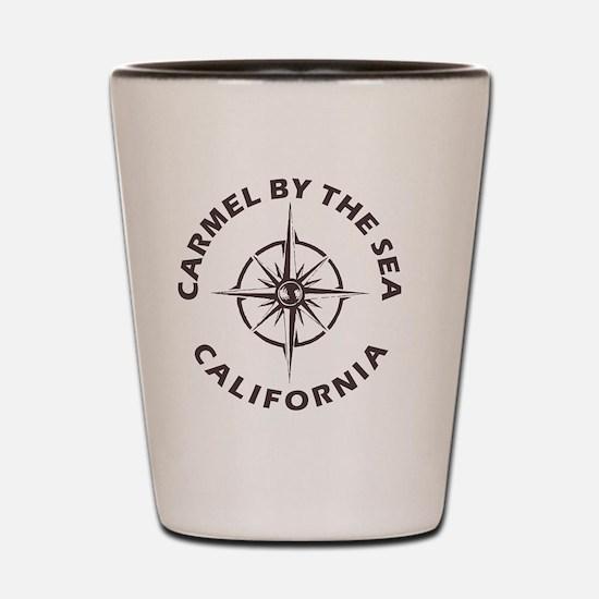 Cute Carmel beach Shot Glass