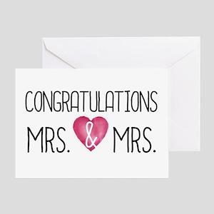 Wedding Congrats Mrs & Greeting Cards
