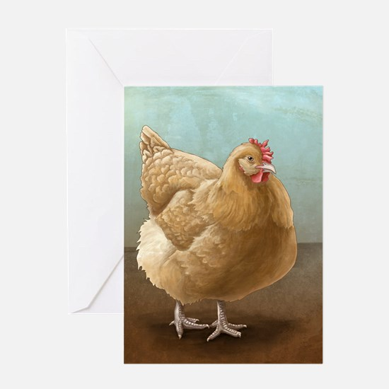 Buff Orpington Hen Greeting Cards