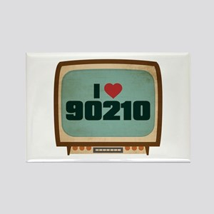 Retro I Heart 90210 Rectangle Magnet