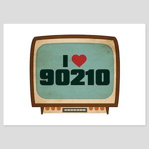 Retro I Heart 90210 5x7 Flat Cards