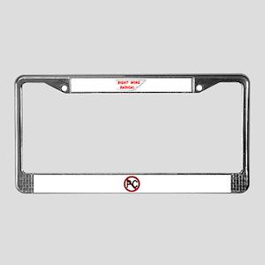 RIGHT WINGER License Plate Frame