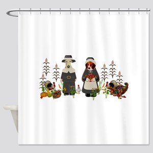Thanksgiving Dogs Shower Curtain