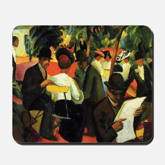 August Macke Gartenrestaurant Mousepad