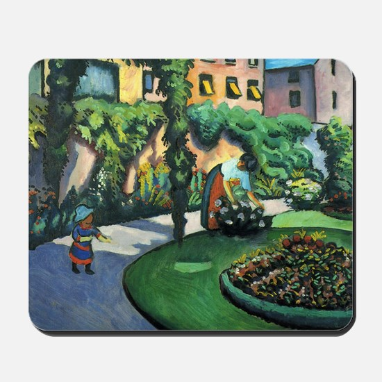 August Macke Gartenbild Mousepad
