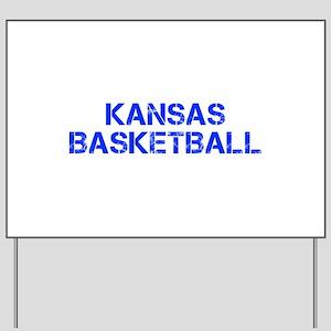 KANSAS basketball-cap blue Yard Sign
