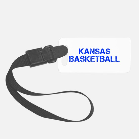 KANSAS basketball-cap blue Luggage Tag