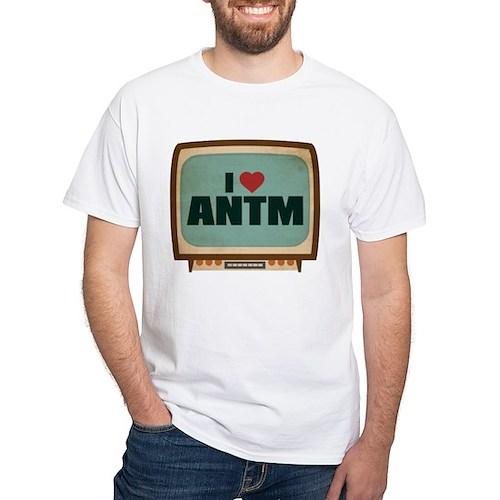 Retro I Heart ANTM White T-Shirt