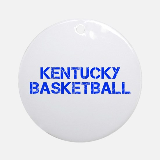 KENTUCKY basketball-cap blue Ornament (Round)