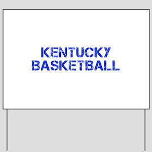 KENTUCKY basketball-cap blue Yard Sign