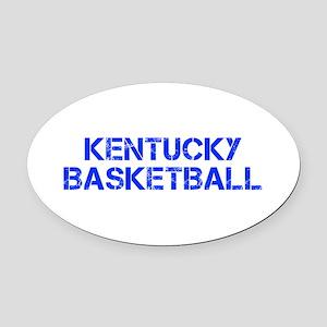KENTUCKY basketball-cap blue Oval Car Magnet