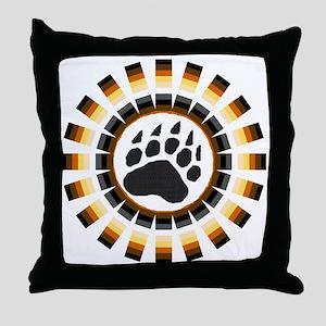 ROUND BEAR PRIDE DESIGN/PAW Throw Pillow