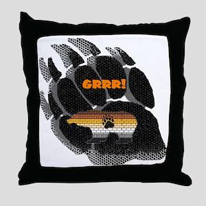 BLACK BEAR PAW/PRIDE BEAR Throw Pillow