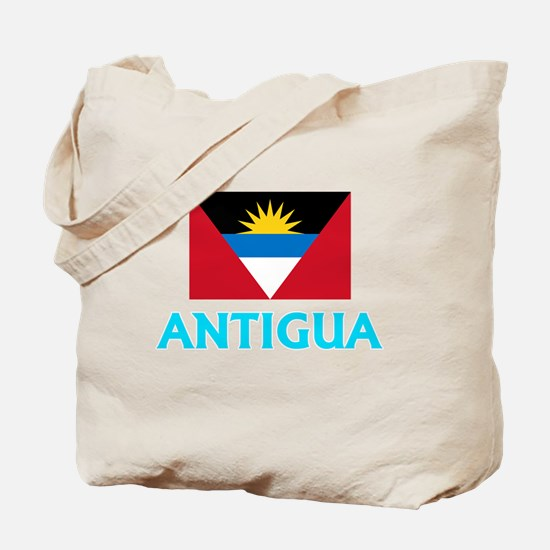Antigua Flag Classic Blue Design Tote Bag