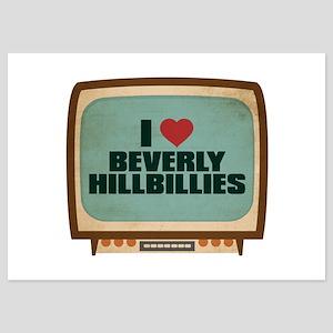Retro I Heart Beverly Hillbillies 5x7 Flat Cards