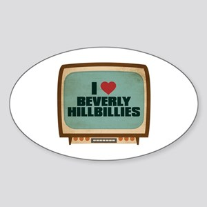 Retro I Heart Beverly Hillbillies Oval Sticker