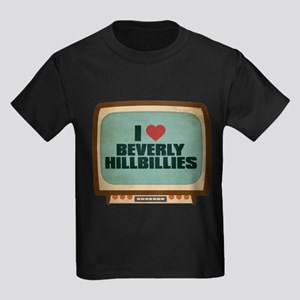 Retro I Heart Beverly Hillbillies Kids Dark T-Shir