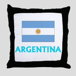 Argentina Flag Classic Blue Design Throw Pillow