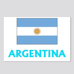 Argentina Flag Classic Bl Postcards (Package of 8)
