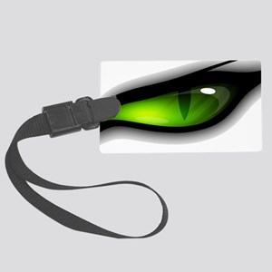 GREEN ANGER EYE TIGER  Large Luggage Tag