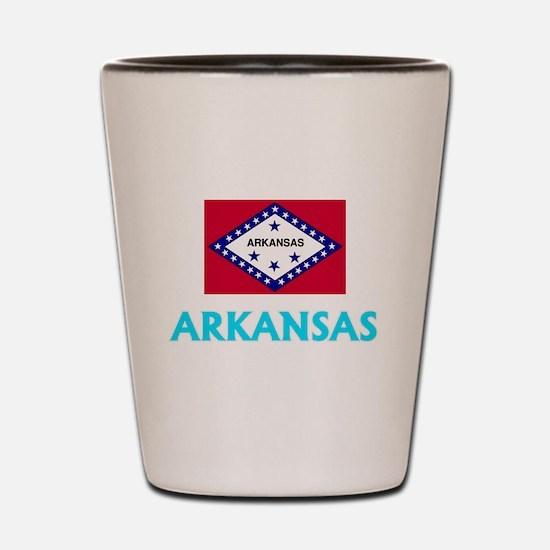 Arkansas Flag Classic Blue Design Shot Glass