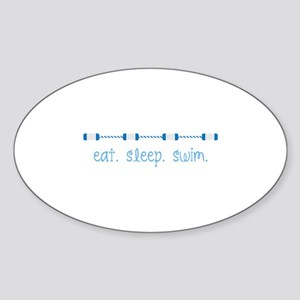 Eat Sleep Swim Sticker
