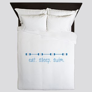 Eat Sleep Swim Queen Duvet