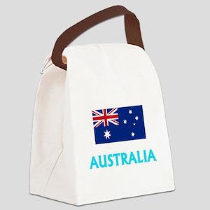 Australia Flag Classic Blue Desig Canvas Lunch Bag