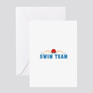 Swim Team Greeting Cards