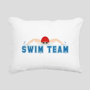 Swim Team Rectangular Canvas Pillow