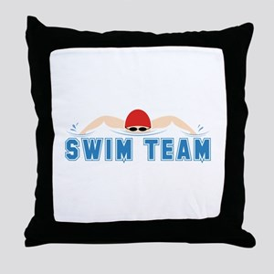Swim Team Throw Pillow
