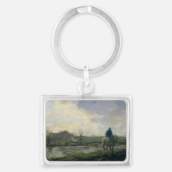 East hampton Landscape Keychain