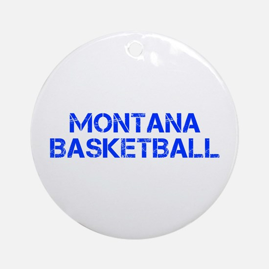 MONTANA basketball-cap blue Ornament (Round)