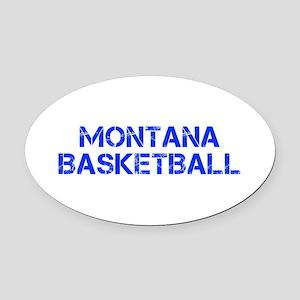 MONTANA basketball-cap blue Oval Car Magnet