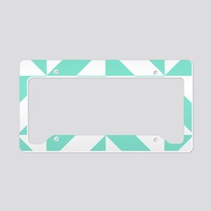 Seafoam Green Geometric Cube License Plate Holder