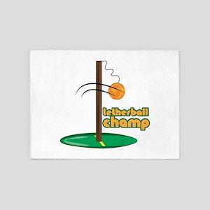 Tetherball Champ 5'x7'Area Rug
